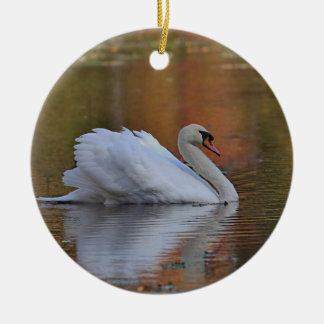 Mute swan christmas ornament