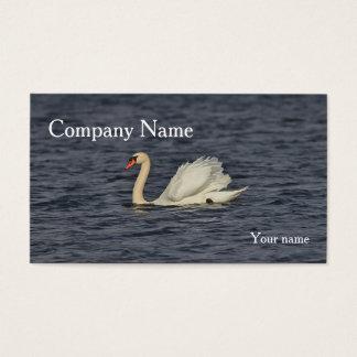 Mute Swan Swimming Business Card