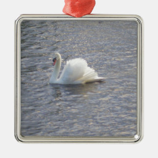 Mute Swan Swimming on the Lake Christmas Ornament