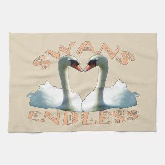 Mute Swans Endless Tea Towel