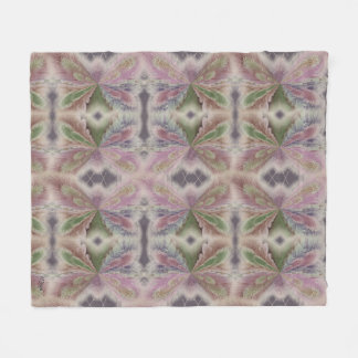 Muted Abstract Butterfly Fleece Blanket