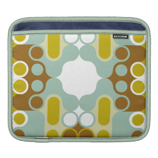 muted abstract retro art geometric india pattern sleeve for iPads