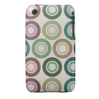Muted Color Retro Circle Pattern iPhone 3 Covers