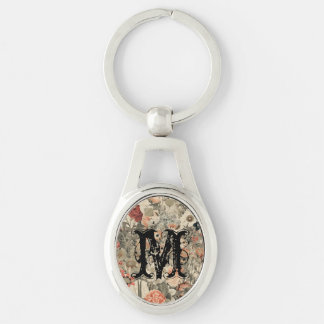 Muted Colors flower collage Keychains