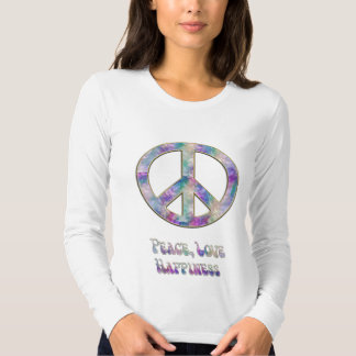 Muted Colors Peace Love Happiness Shirt
