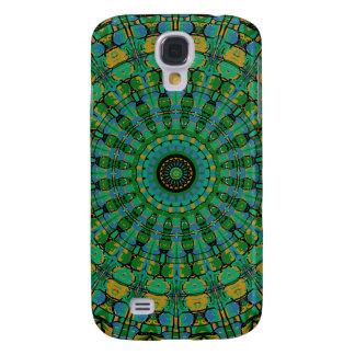 Muted Green Spiral Kaleidoscope Samsung Galaxy S4 Cover
