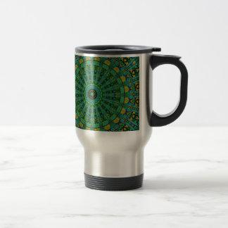 Muted Green Spiral Kaleidoscope Coffee Mug