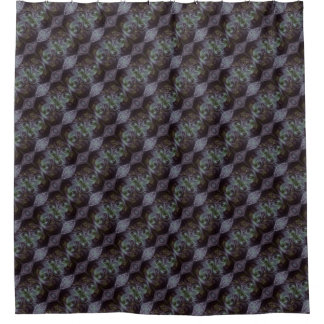 Muted Greens and Purples Fractal Design Shower Curtain
