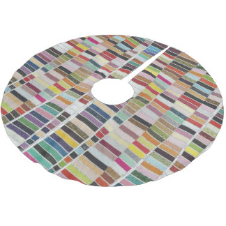 Muted Multicolor Swatches Brushed Polyester Tree Skirt