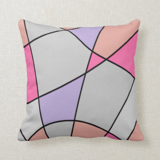 Muted Pastel Squares Throw Pillow