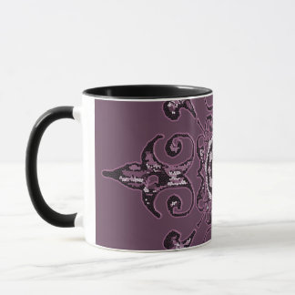 Muted Purple Vintage Design Coffee Mug