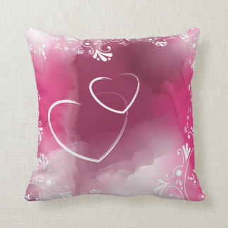 Muted Watercolors in Pinks American MoJo Pillow Throw Cushion