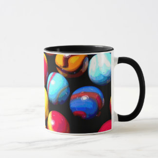Muti-colored marbles coffee mug