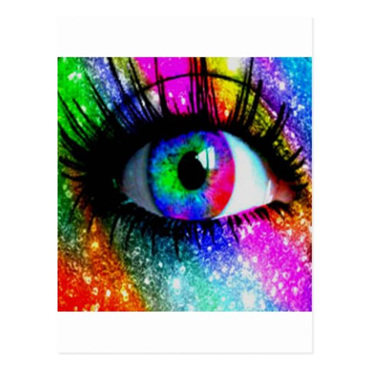 Muti coloured eye postcard