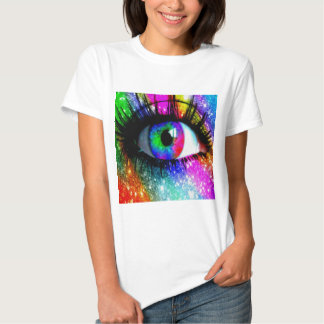 Muti coloured eye tee shirt