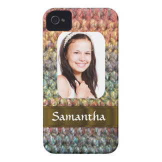 Muticolored wool photo template iPhone 4 Case-Mate case