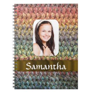Muticolored wool photo template notebook