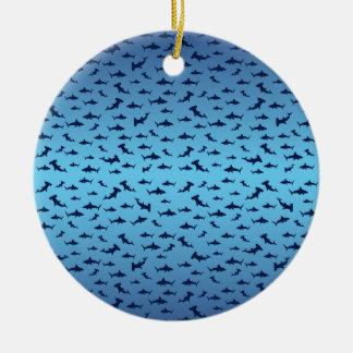 Mutilple Hammer Head Sharks Christmas Ornament