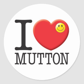 Mutton Classic Round Sticker