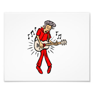 mutton hair guy guitar player red png photo art