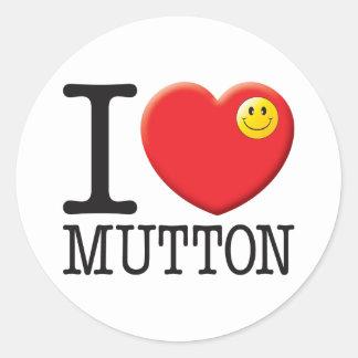 Mutton Round Sticker