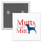 Mutts against Mitt.png 15 Cm Square Badge