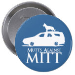 Mutts Against Mitt Romney.png 10 Cm Round Badge