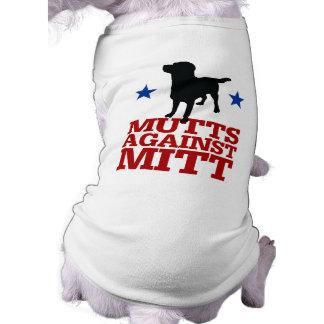 Mutts Against Mitt Sleeveless Dog Shirt