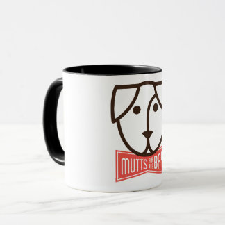 Mutts for the Bay Mug in Black