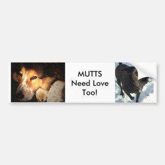 MUTTS Need LoveToo! Bumper Sticker
