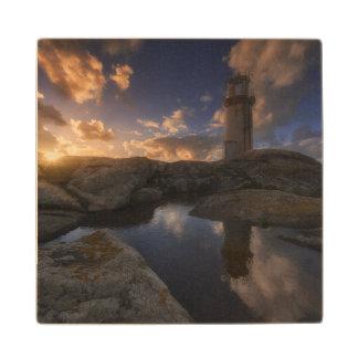 Muxia Lighthouse | Galicia, Spain Wood Coaster