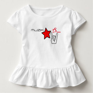 MuZiK iS... Girls Ruffle with Star and Rock Hand Toddler T-Shirt