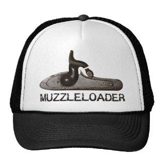 Muzzle loader breech & hammer, black powder rifle mesh hat