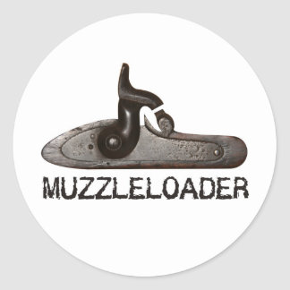 Muzzle loader breech hammer black powder rifle sticker
