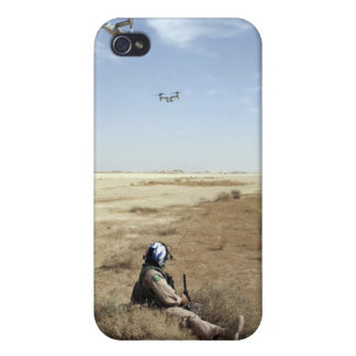 MV-22B Ospreys fly over US Navy Hospital Corpsm iPhone 4 Covers