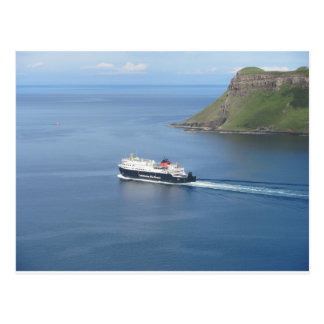 MV Hebrides leaving Uig Postcard