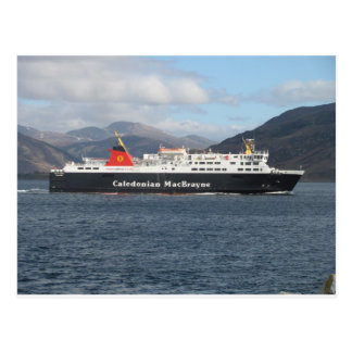 MV ISLE OF LEWIS LEAVING ULLAPOOL POSTCARD