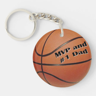 MVP Basketball Single-Sided Round Acrylic Key Ring