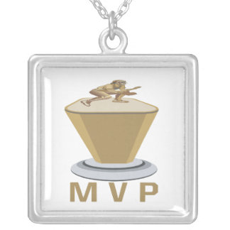 MVP SQUARE PENDANT NECKLACE
