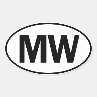 MW Oval Identity Sign Oval Sticker
