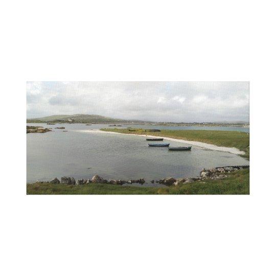 Mweenish Island Boats, Galway Canvas Print