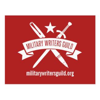 MWG logo postcard, Holiday Red Postcard