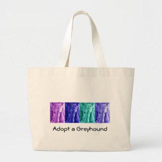 Mx4 design  Adopt a Greyhound tote Jumbo Tote Bag