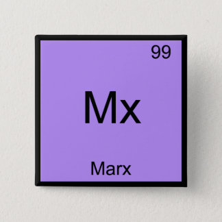 Mx - Marx Funny Element Chemistry Symbol T-Shirt 15 Cm Square Badge