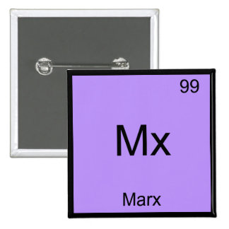 Mx - Marx Funny Element Chemistry Symbol T-Shirt Button