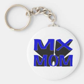 MX MOM BASIC ROUND BUTTON KEY RING