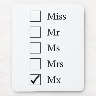 Mx Title (Five Options) Mousepad