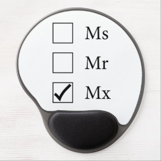 Mx Title (Three Options) Gel Mousepad Gel Mouse Mat