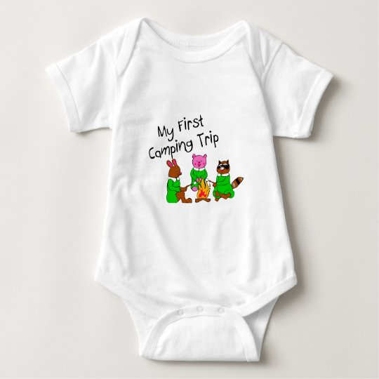 My 1st Camping Trip Baby Bodysuit