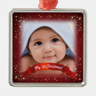 My 1st Christmas! - Add your photo! Christmas Ornament
